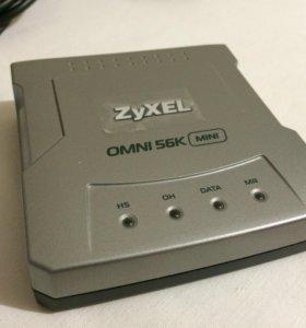 Модем Zyxel omni 56k mini