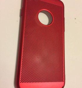 Чехол красная сетка для iPhone 6