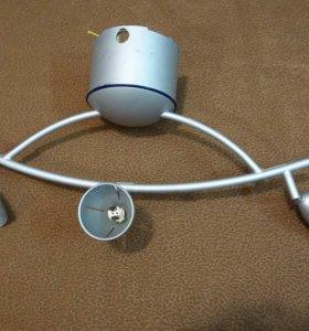 Лампа-софит на 3 светильника, Люстра потолочная