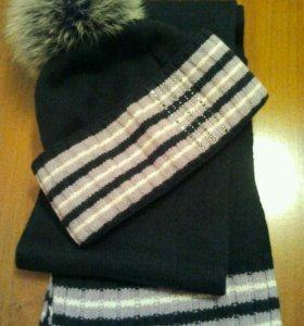 Зимние шапка и шарф