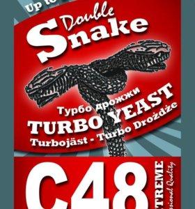 Спиртовые турбо дрожжи DoubleSnake Turbo Yeast C48