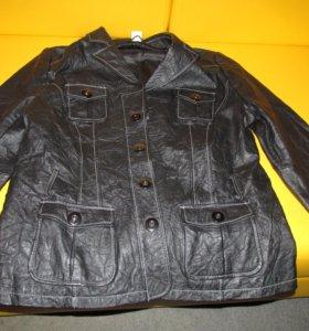 куртка кожаная,новая,черного цвета