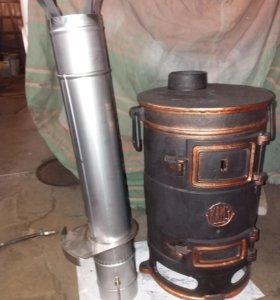 Трубы для печек 120 мм из нержавейки 304