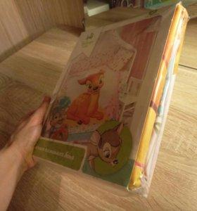 Новый комплект детского постельного белья Disney
