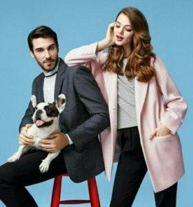 Розовое пальто пиджак