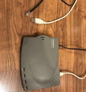 Высокоскоростной USB факс-модем U.S. Robotics 56K