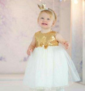 Платье и корона. Рост 104