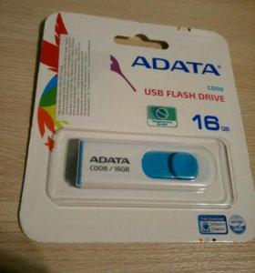 Флешка usb ADATA 16 gb С гарантией