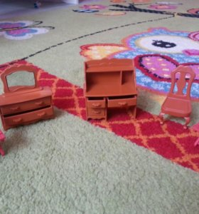 Мебель кукольная,пони,филли+мелкие игр. в подарок