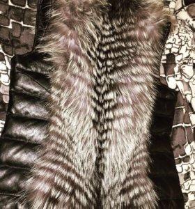 Натуральная кожаная жилетка