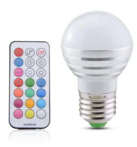 Разноцветная лампочка