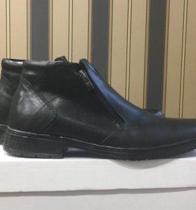 Туфли мужские зимние. Натуральная кожа магазин