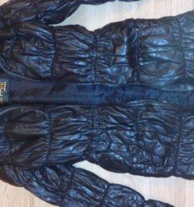 Натуральное кожаное пальто 42-44