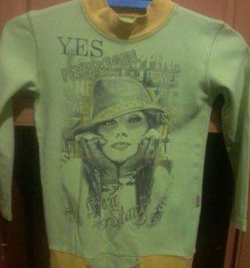Туника-футболка для девочки- подростка