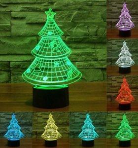 3D светильник Елка + Ёлка искусственная бесплатно.