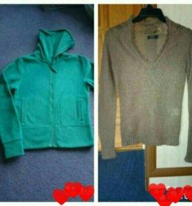 Мохеровый свитерок и толстовка