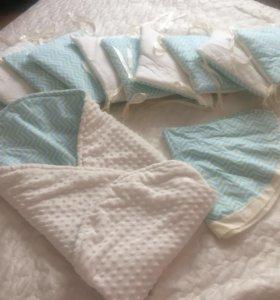 Бортики,конвертик-одеяло и простынка