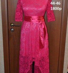 платье розовое гипюровое