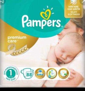 Памперсы/Подгузники Pampers premium 1 88 штук