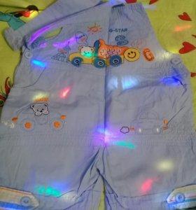 джинсовый детский комбинезон на лямках