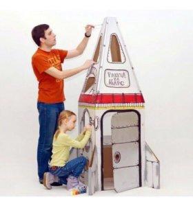 """Домик из картона """"Ракета на Марс"""""""