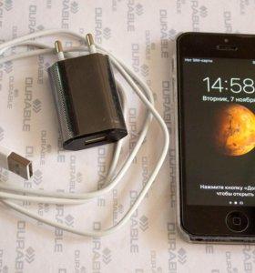 Полностью рабочий iPhone 5 16Gb