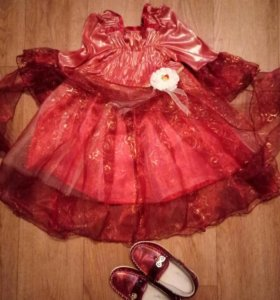 нарядное платье и туфельки
