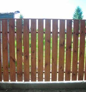 Забор из штакетника зазор 2 см h= 1,6 м ДШ 004 НО