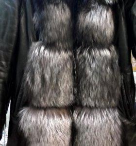 Кожаная куртка - жилетка