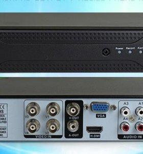 4-канальный DVR видеорегистратор.