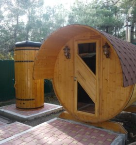 Баня бочка (круглая сауна)