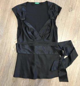 Шелковая блуза Benetton