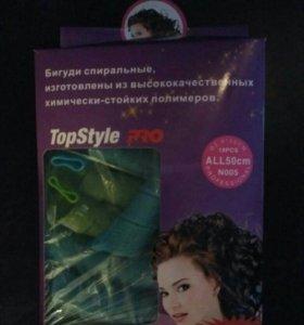 Бигуди спиральные Top Style Pro 50 см. 18 шт.