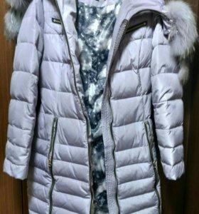 Теплое пальтишко на девочку