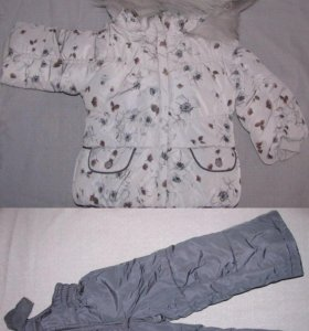 костюм зима на девочку 80 92 98 104 серый новый