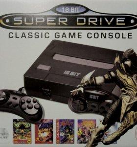 SEGA Super Drive SNES Black (166 в 1)