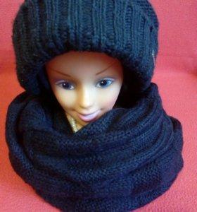Шапка, шарф.