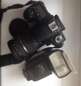 Фотоаппарат Canon 60d с tamron 28-75 и вспышкой
