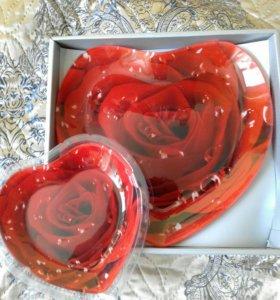 На подарок Набор блюд Сердце