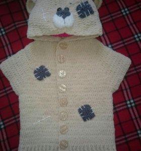 Плюшевая-жилетка мишка-тэди для малыша