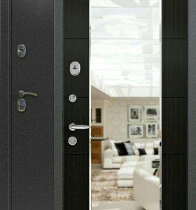 Дверь металлическая с зеркалом 3К