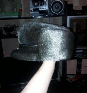 Мужская шапка из голубой нерпы