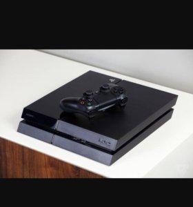 Sony PlayStation 4 500gb + 2 геймпада +2 игры