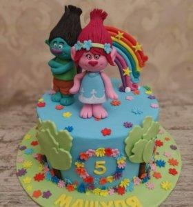 Торт на заказ детский тролли