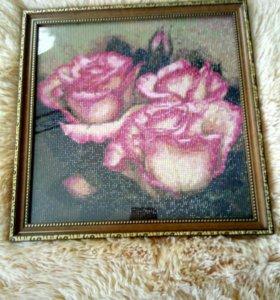 Картина из роз