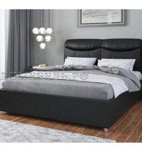Кровать Бавария черная