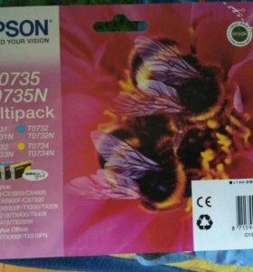 Картриджи Epson T0735 T0735N Multipack