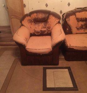 Диван-кровать+кресло