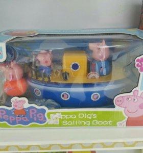 Свинка пеппа кораблик