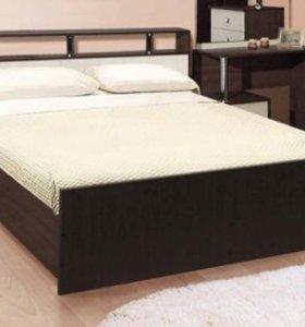 Кровать Соломея  с матрасом и полочкой у изголовья